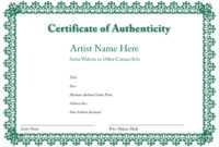 Certificate Of Authenticity Of An Art Print In 2019 With Regard To Manager Of The Month Certificate Template