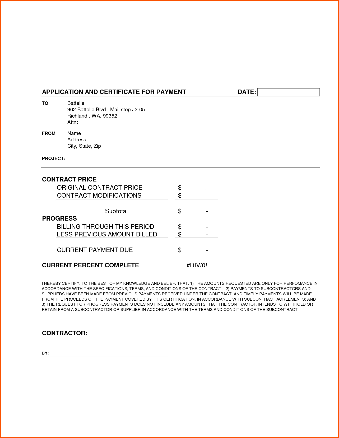 Certificate Of Completion Template Construction - Major in Certificate Of Completion Construction Templates