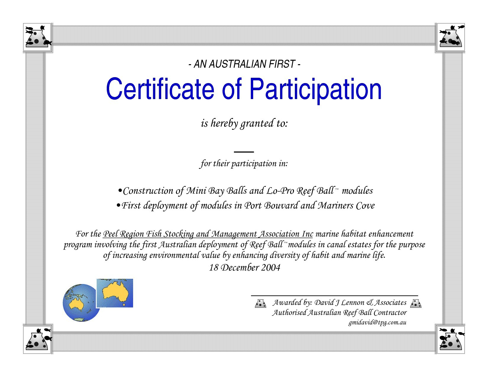 Certificate Of Participation Word Template With Certificate Of Participation Word Template