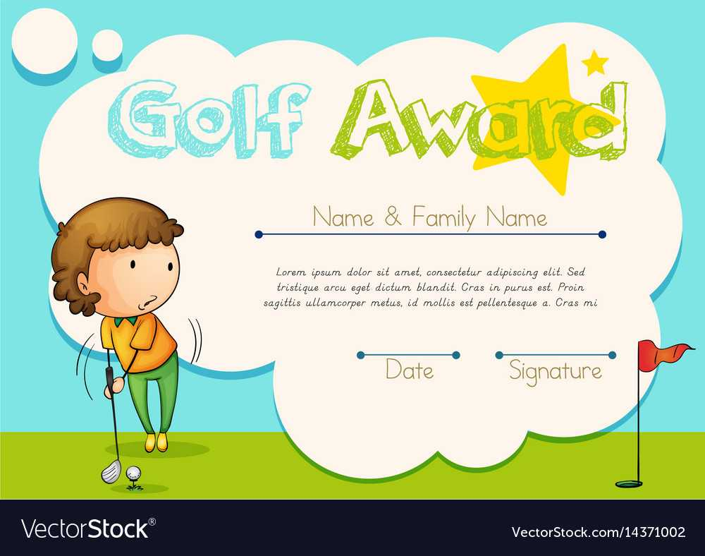 Certificate Template For Golf Award With Regard To Golf Certificate Template Free