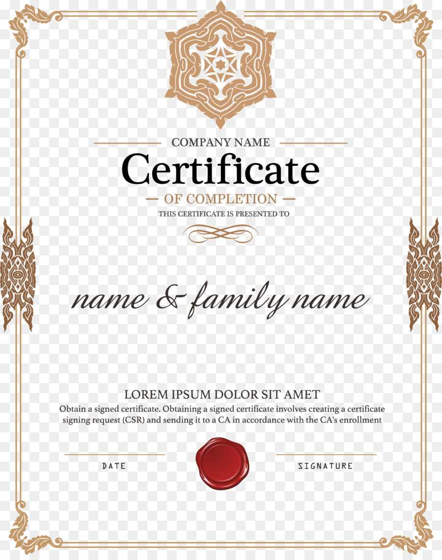 Certificate Template Png Download - 1579*1980 - Free Inside Certificate Of Authorization Template