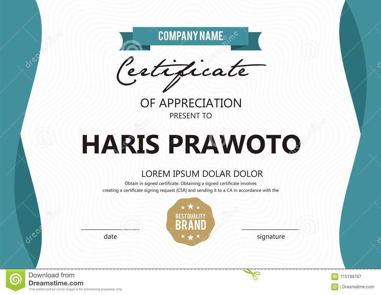 Certificate Template. Suitable For Your Company. Improve within Professional Award Certificate Template