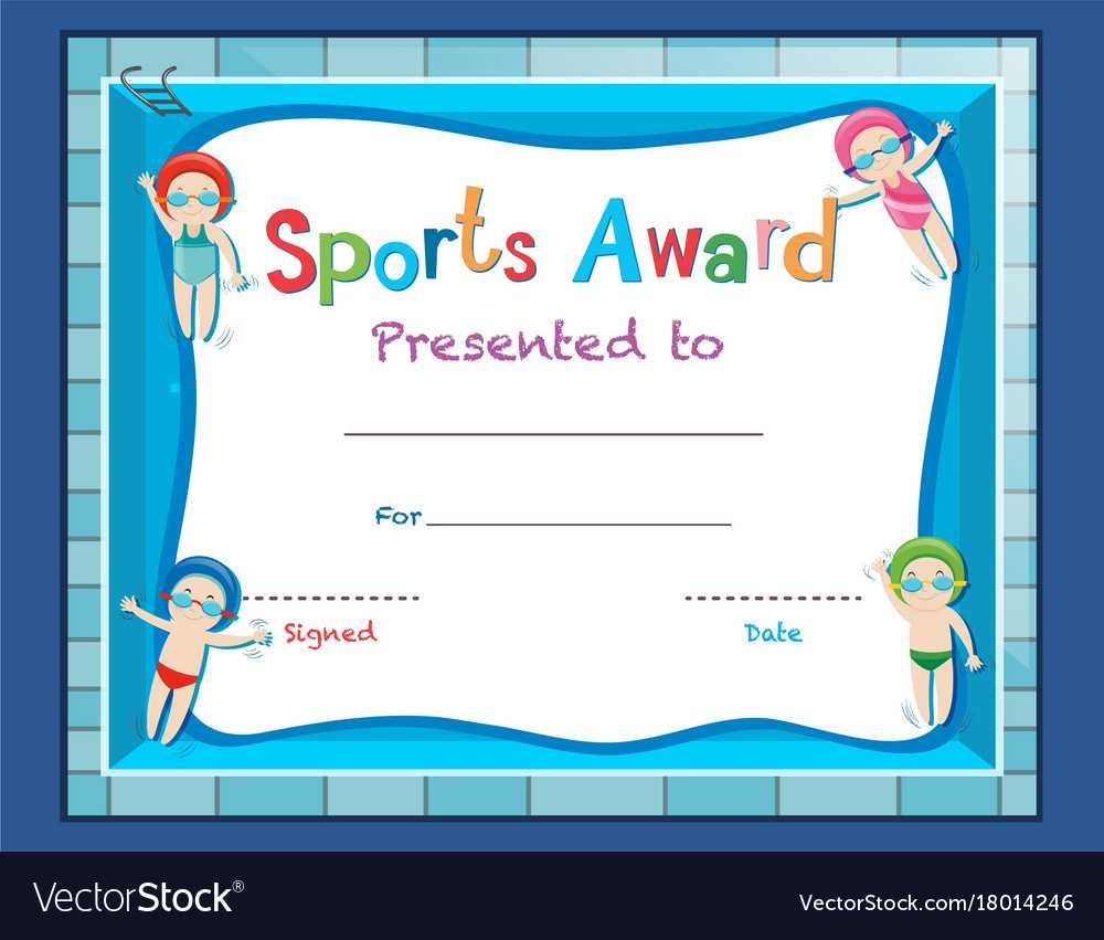 Certificate Template With Kids Swimming In Free Swimming Certificate Templates