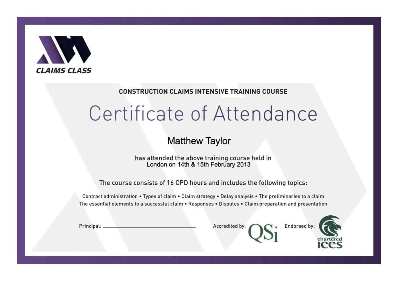 Certificates: Popular Attendance Certificate Template Word with regard to Certificate Of Attendance Conference Template