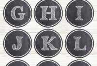 Chalkboard Banner Letters Free Printable Alphabet | Alfabe inside Free Bridal Shower Banner Template