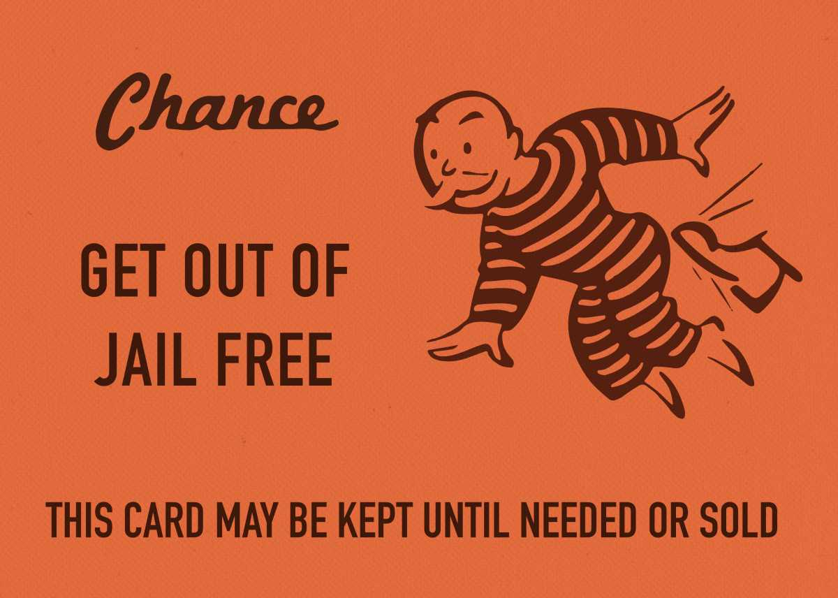 Chance Card Vintage Monopoly G Vintage Posters Poster pertaining to Get Out Of Jail Free Card Template