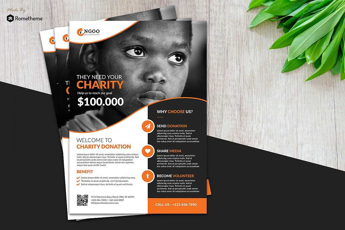 Charity Flyer Vol. 01 with Ngo Brochure Templates