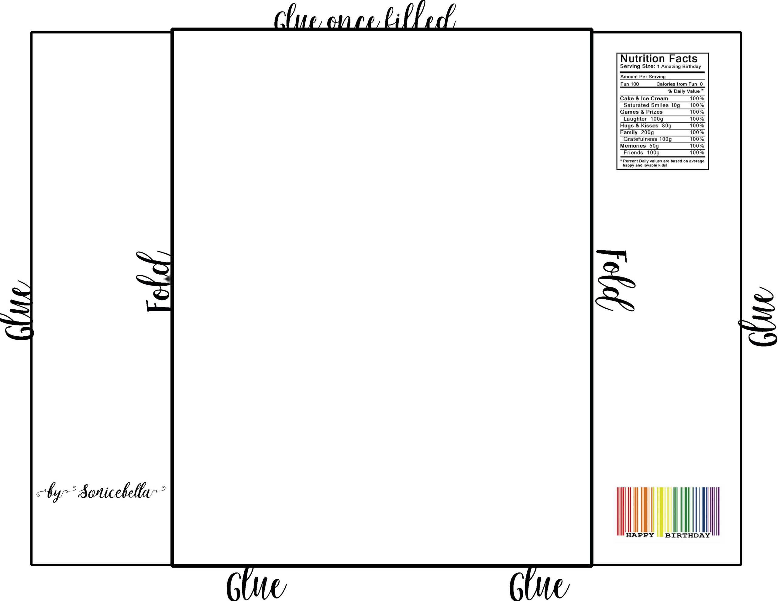 Chip Bag Template / Free Enjoy ! | Chip Bags, Candy Bar pertaining to Blank Candy Bar Wrapper Template For Word