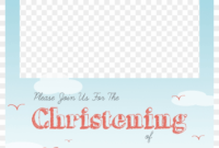 Christening Png Free – Baptism Invitation Template Png intended for Blank Christening Invitation Templates