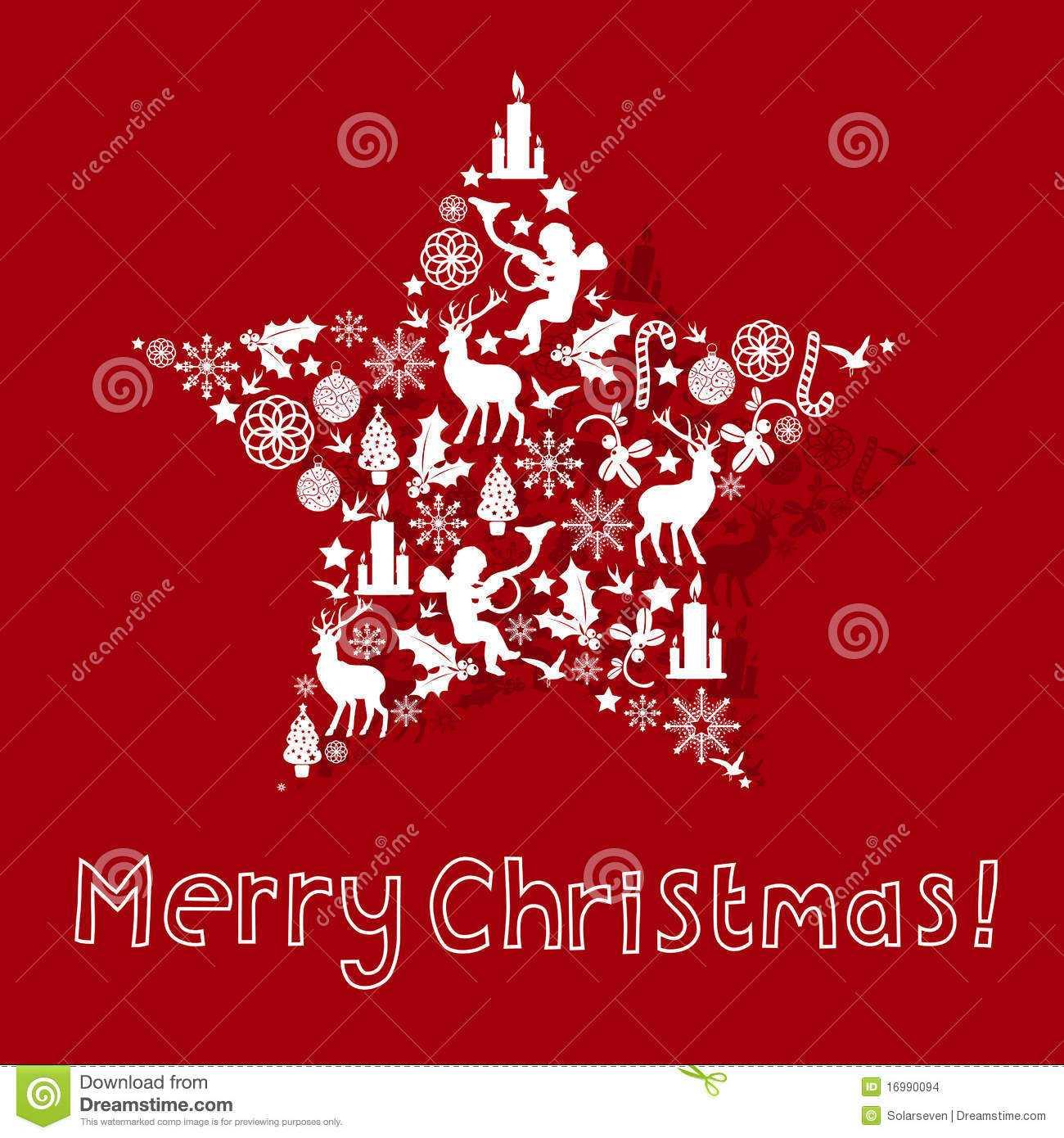 Christmas Card Design Stock Vector. Illustration Of Event in Adobe Illustrator Christmas Card Template