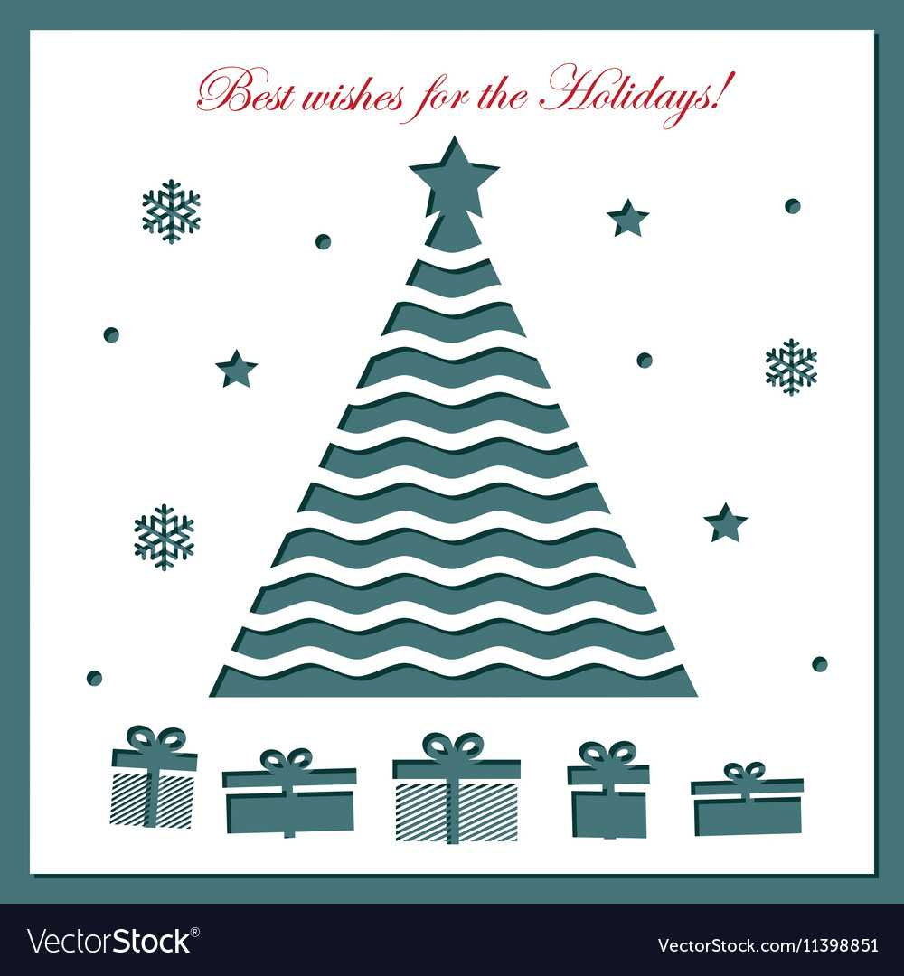 Christmas Card Template With Laser Cutting throughout Adobe Illustrator Christmas Card Template