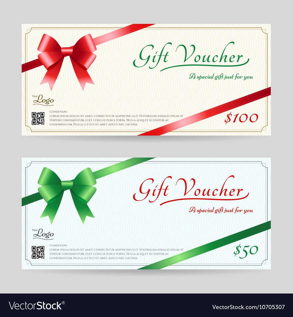 Christmas Gift Card Or Gift Voucher Template within Gift Card Template Illustrator