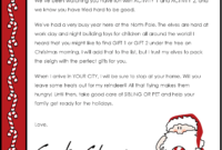 Christmas Letter Borders And Templates Letter Templates inside Letter From Santa Template Word