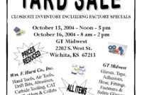 Church Yard Sale Flyer | Gt Midwest: Garage Sale | Yard Sale in Garage Sale Flyer Template Word