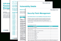 Cip-010 R3 Vulnerability Assessment And Patch Management intended for Reliability Report Template