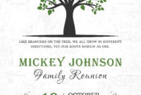 Classic Family Reunion Invitation Template with regard to Reunion Invitation Card Templates