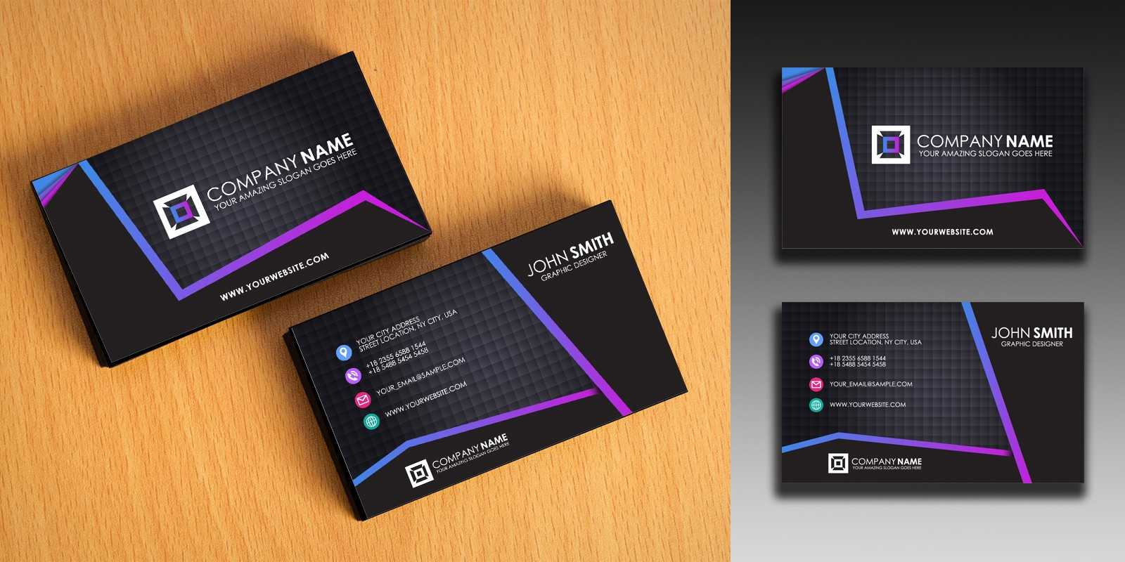 Clean And Simple Business Card Template In Buisness Card Templates