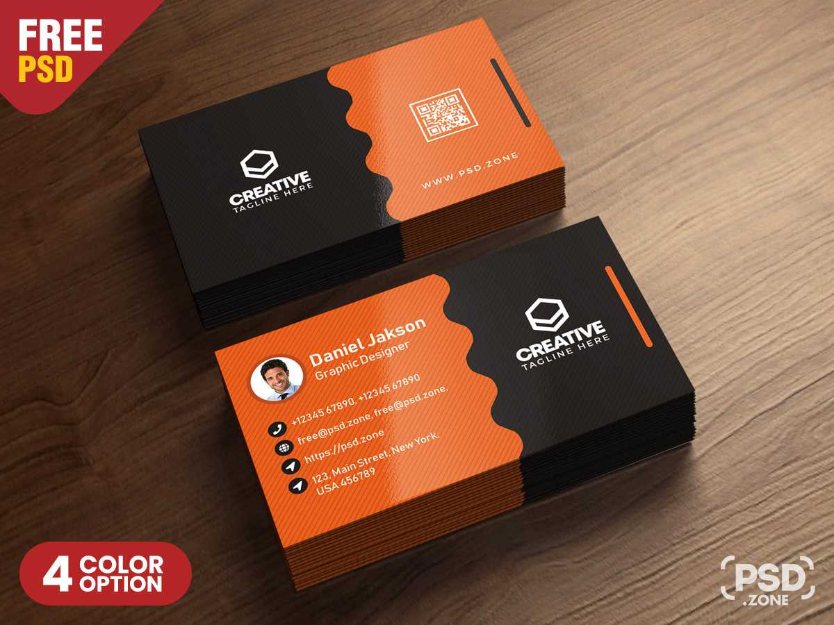 Clean Business Card Psd Templatespsd Zone On Dribbble with Visiting Card Templates For Photoshop