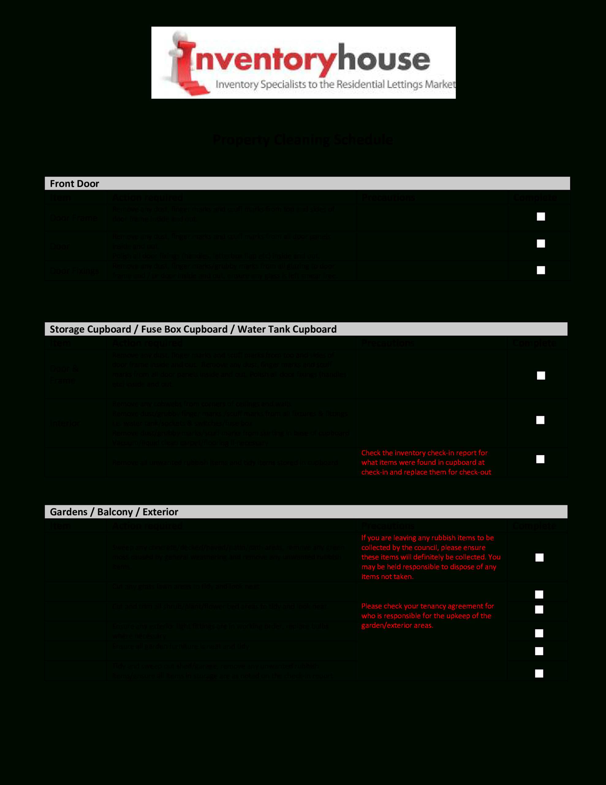 Cleaning Report | Templates At Allbusinesstemplates Intended For Check Out Report Template