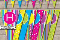 Colorful Banner Template within Blank Candyland Template