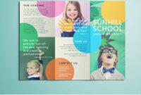 Colorful School Brochure - Tri Fold Template | Download Free inside School Brochure Design Templates