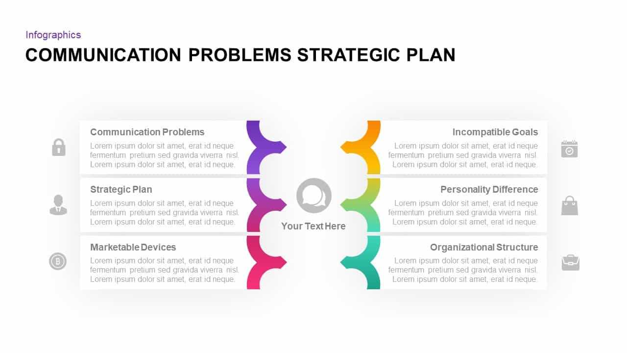 Communication Problems Strategic Plan Template - Slidebazaar pertaining to Strategy Document Template Powerpoint