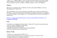 Company Analysis Report Template – Atlantaauctionco for Industry Analysis Report Template