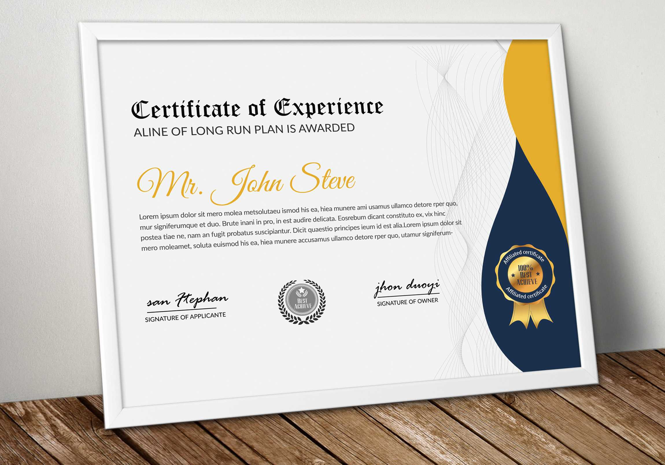 Company Certificate Word Template – Vsual Within Professional Certificate Templates For Word