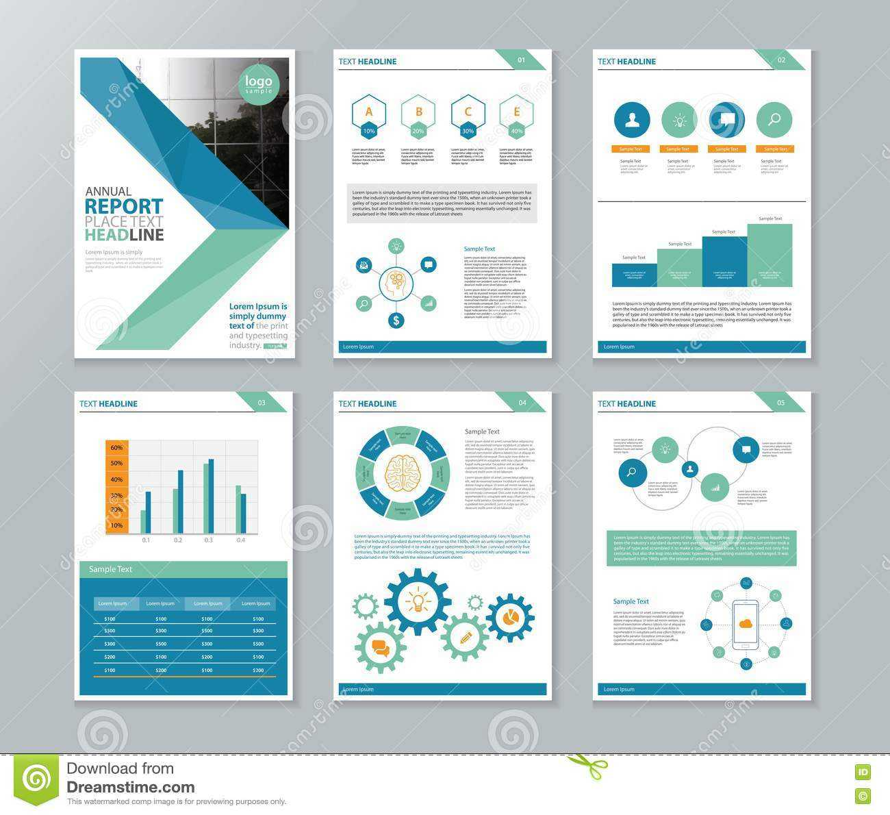Company Profile ,annual Report , Brochure , Flyer, Page within Annual Report Template Word Free Download