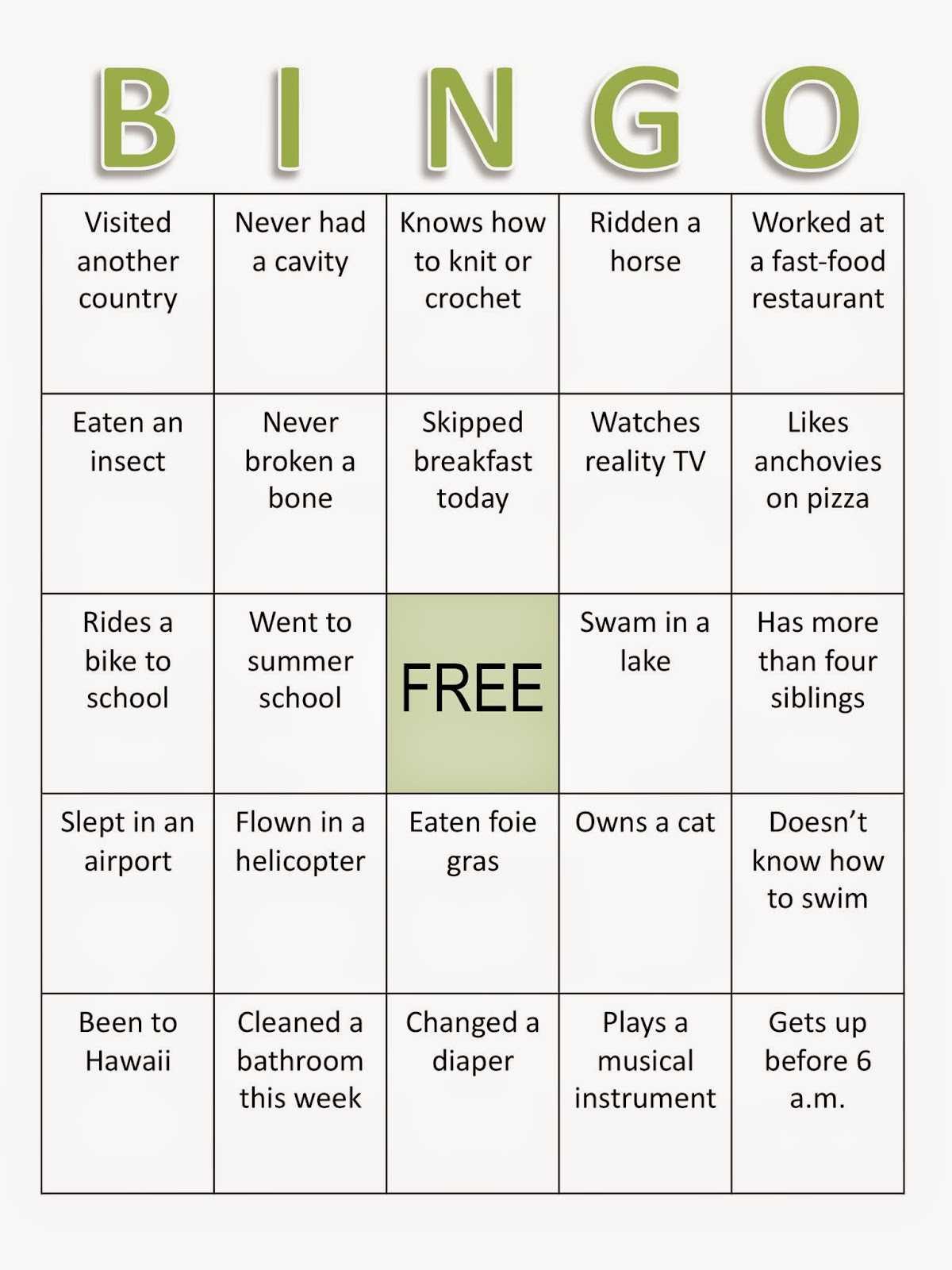 Composition Classroom: Back To School Bingo Ice Breaker throughout Ice Breaker Bingo Card Template