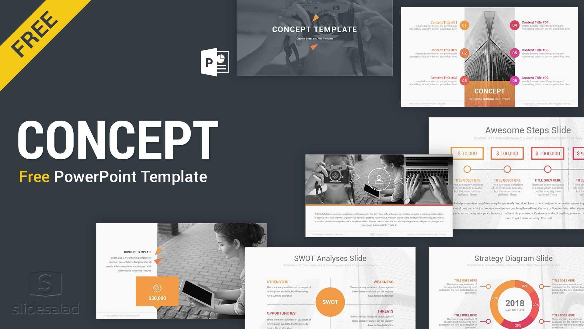 Concept Free Powerpoint Presentation Template - Free within Free Powerpoint Presentation Templates Downloads