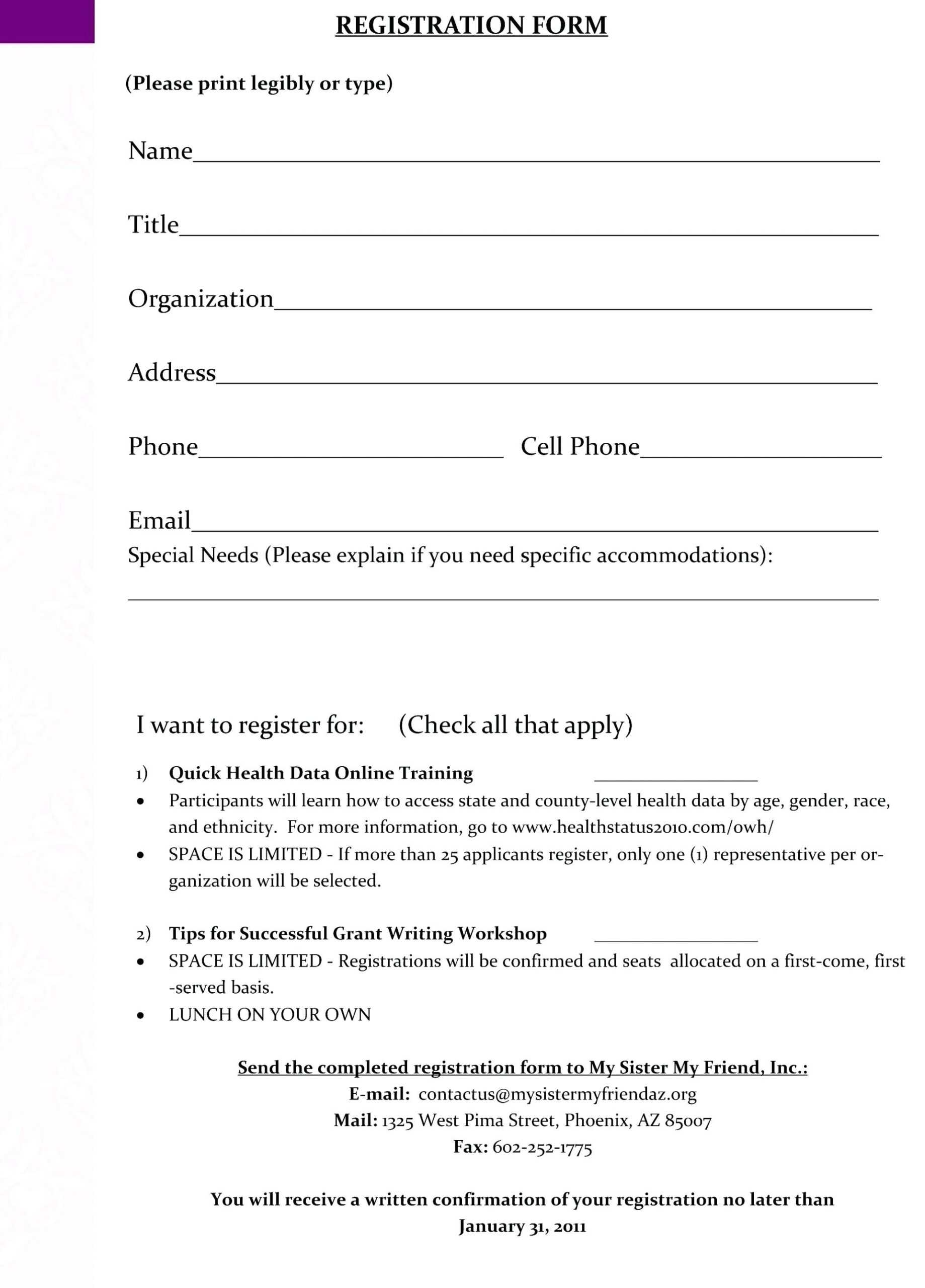 Conference Registration Form Template Word throughout Event Survey Template Word
