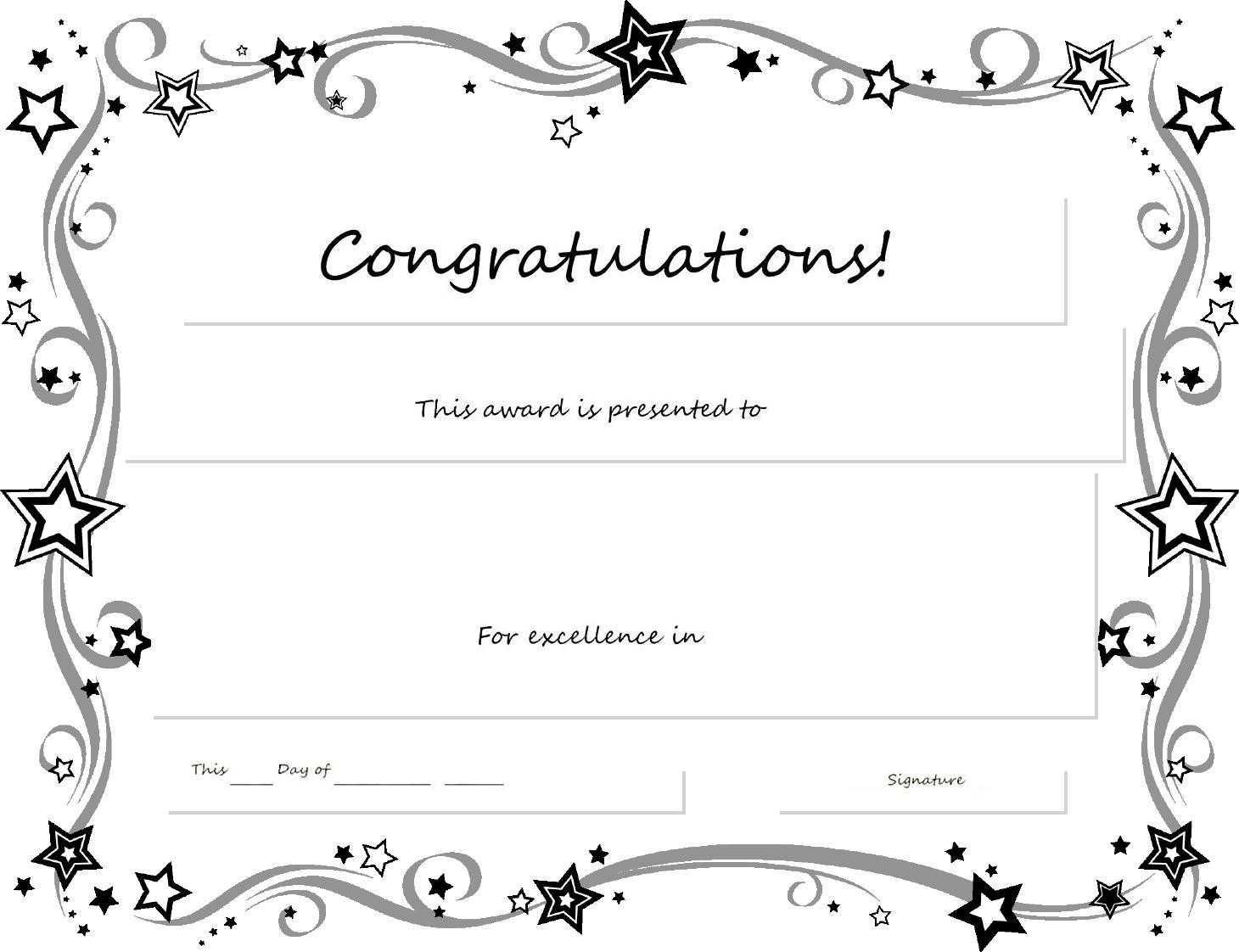 Congratulations Certificate Word Template - Erieairfair With For Congratulations Certificate Word Template