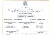 Continuing Education Certificates Templates – Best Education in Continuing Education Certificate Template