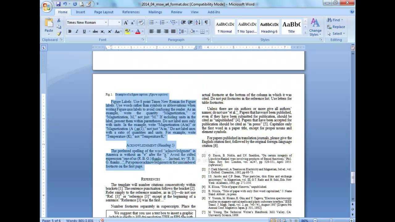 Convert A Paper Into Ieee - Quick Conversion Guide For Ieee Template Word 2007
