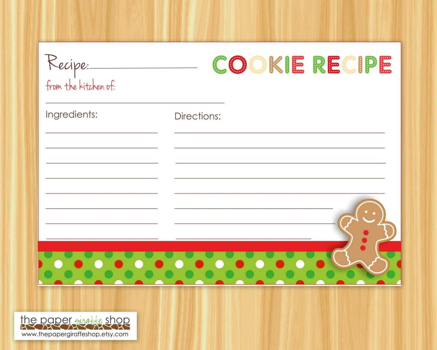 Cookie Exchange Recipe Card Template - Atlantaauctionco with regard to Cookie Exchange Recipe Card Template