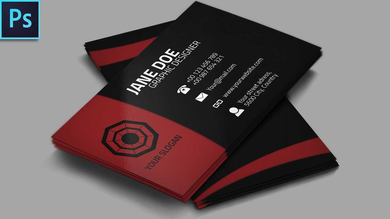 Cool Creative Business Card + Psd - Photoshop Tutorial intended for Visiting Card Templates For Photoshop