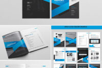 Cool Indesign Annual Corporate Report Template   Indesign intended for Adobe Indesign Brochure Templates