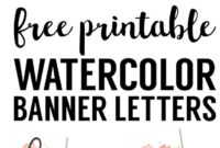 Coral Watercolor Banner Free Printable | Free Printables with Free Bridal Shower Banner Template
