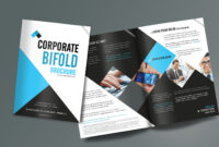 Corporate Bifold Brochure Design Templates – Freedownload pertaining to E Brochure Design Templates