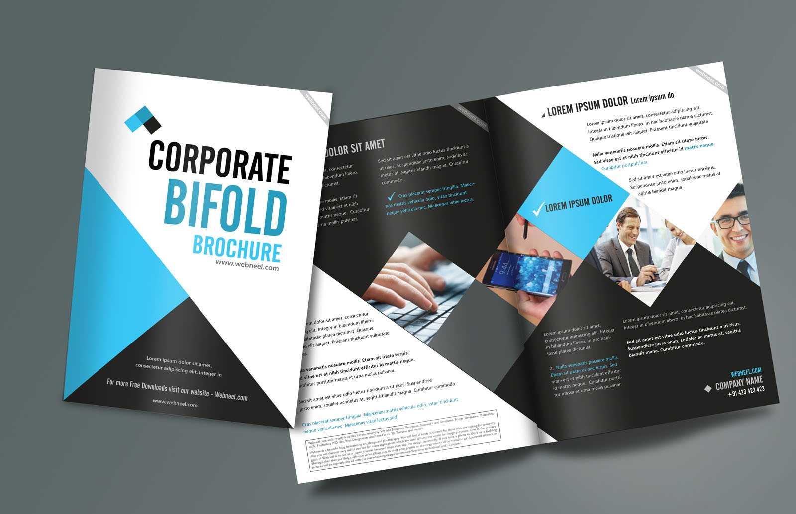 Corporate Bifold Brochure Design Templates - Freedownload pertaining to E Brochure Design Templates