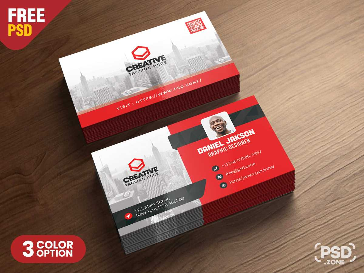 Corporate Business Card Psd Template - Psd Zone pertaining to Visiting Card Psd Template
