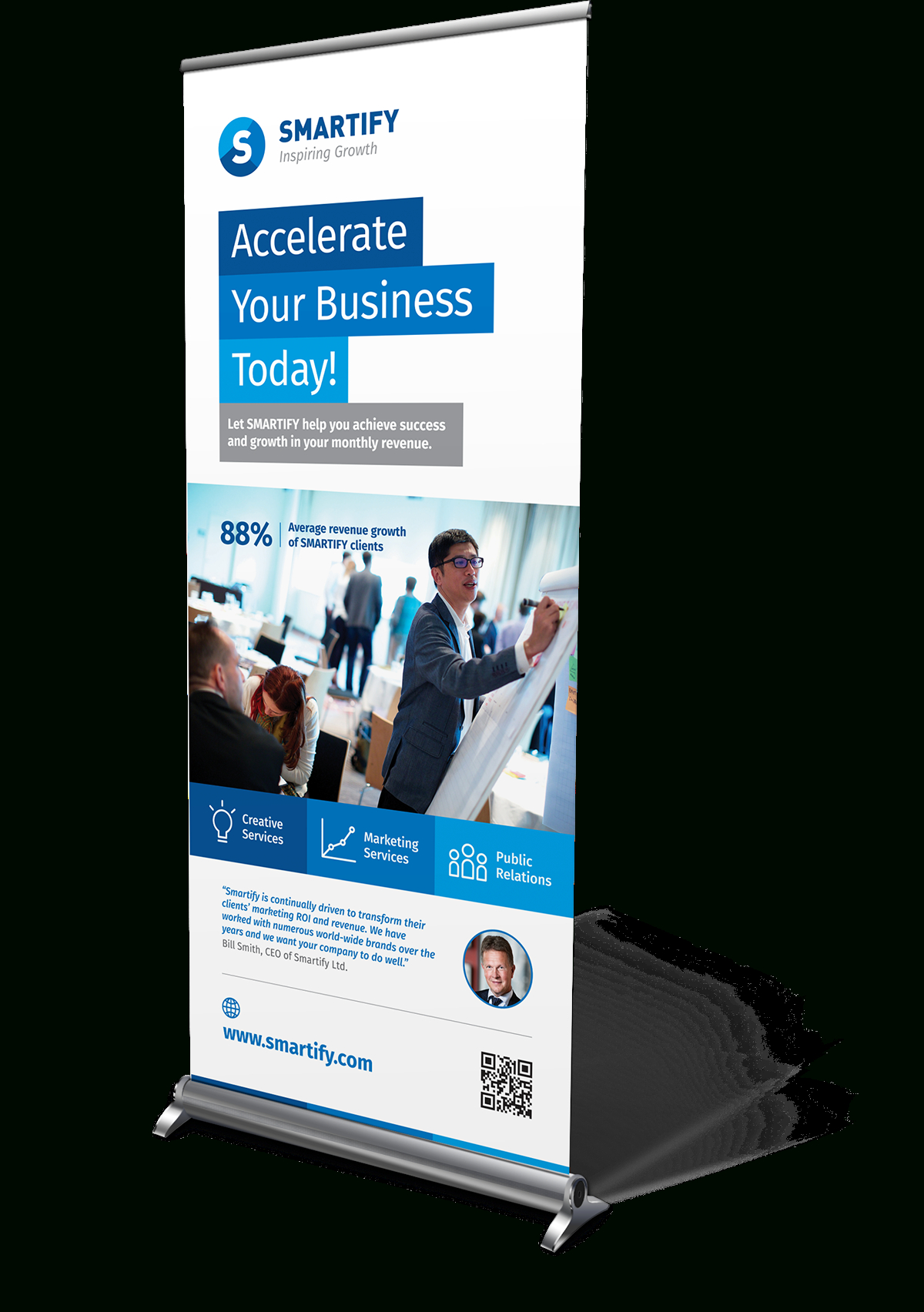 Corporate Business Roll Up Banners Template For Download For Retractable Banner Design Templates