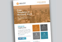 Corporate Flyer Design In Microsoft Word Free – Used To Tech intended for Free Business Flyer Templates For Microsoft Word