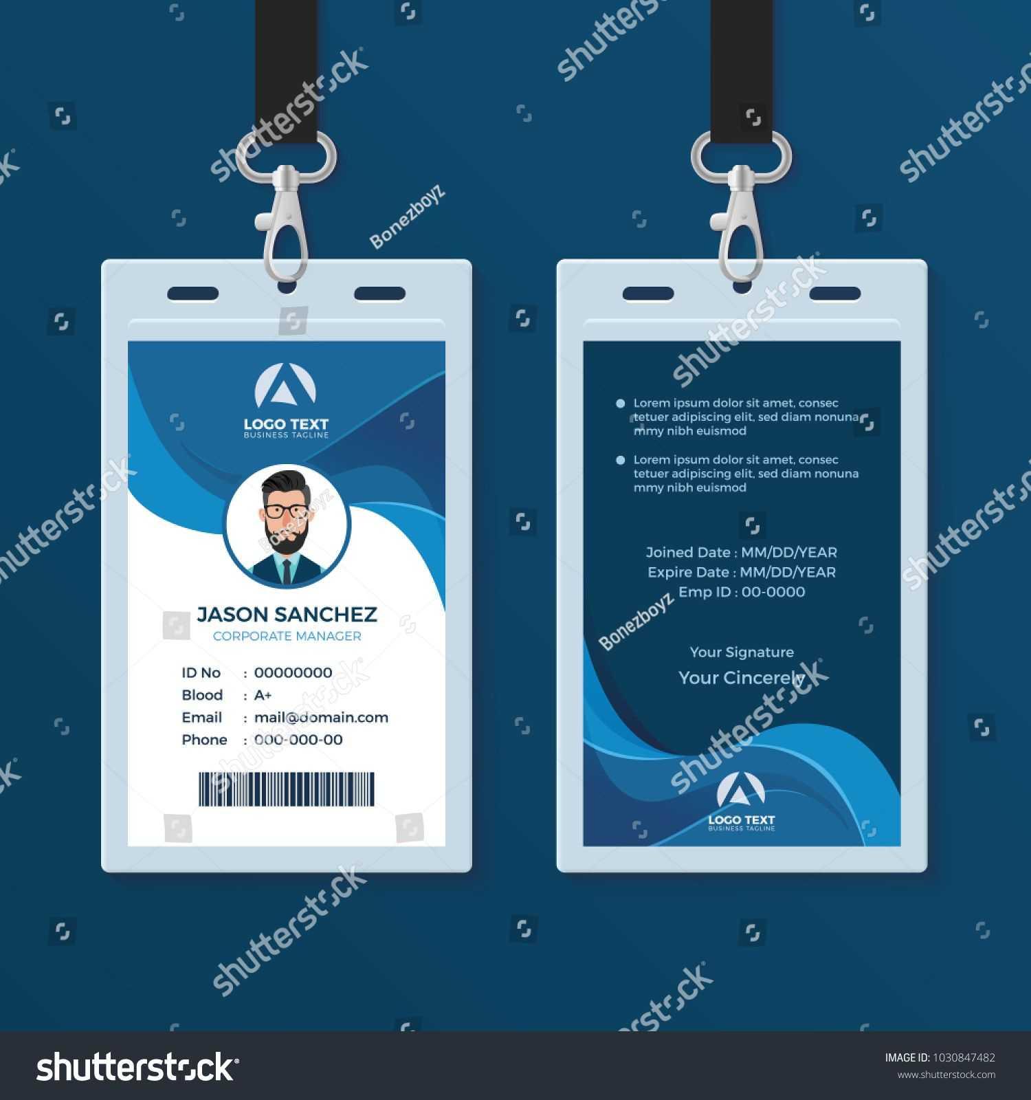Corporate Id Card Design Template Id#corporate#card#template In Spy Id Card Template