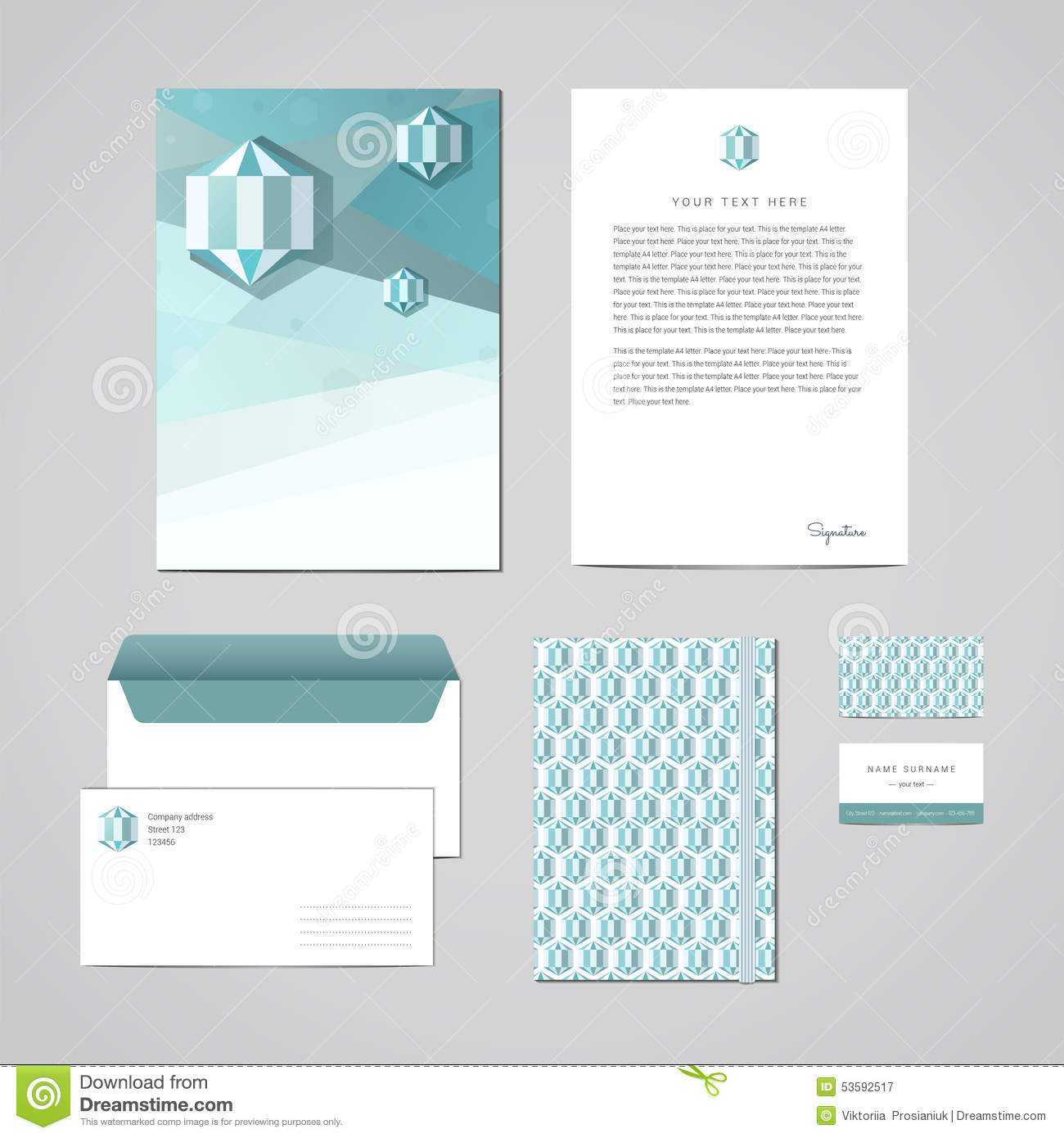 Corporate Identity Design Template. Documentation For in Business Card Letterhead Envelope Template