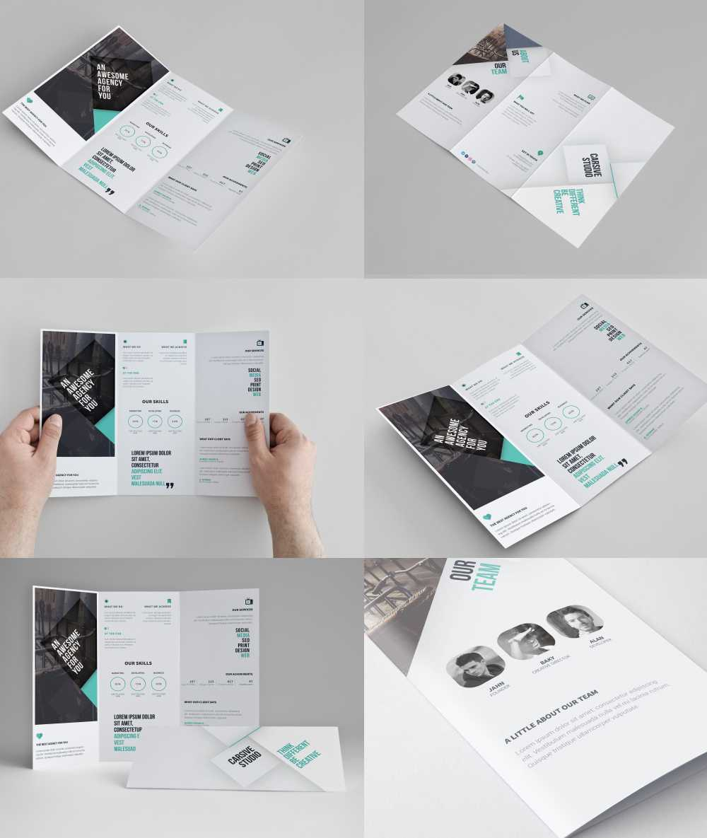 Corporate Tri-Fold Brochure Template Free Psd At regarding Brochure Psd Template 3 Fold