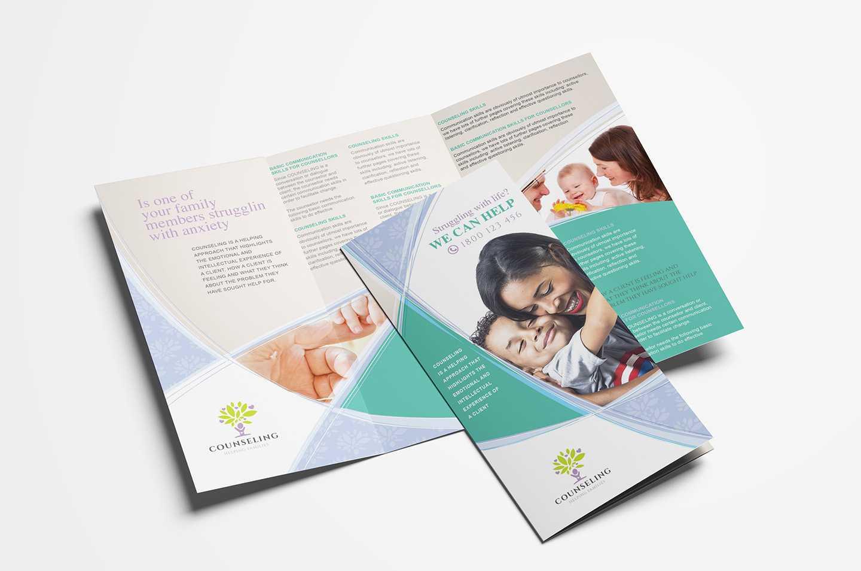 Counselling Service Tri-Fold Brochure Template In Psd, Ai with regard to Tri Fold Brochure Template Illustrator