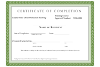 Course Completion Certificate Template | Certificate Of inside Certification Of Completion Template