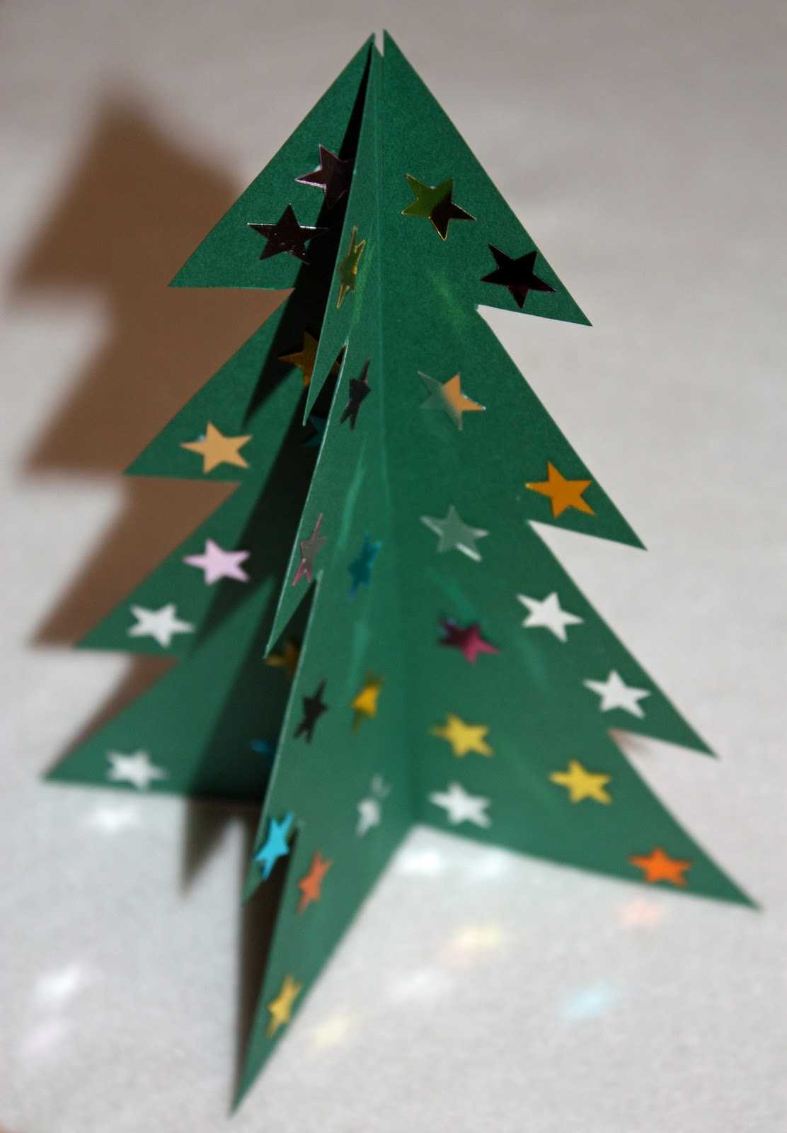 Craft And Activities For All Ages!: Make A 3D Card Christmas Intended For 3D Christmas Tree Card Template